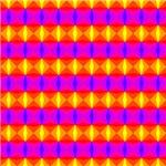 Yellow Red Purple Diamonds