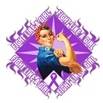 Pancreatic Cancer Rosie Riveter Fight Like a Girl
