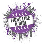 Fight Like a Girl Alzheimers Disease Splatter