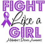 Fight Like a Girl Alzheimers Disease Shirts