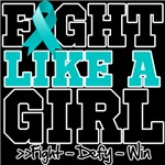 Ovarian Cancer Sporty Fight Like a Girl Shirts