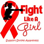 Stroke Fight Like A Girl Knockout Shirts