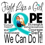 Fight We Can Do It Ovarian Cancer Shirts