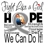 Diabetes Hope Fight Like a Girl Shirts