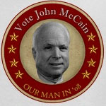 Retro McCain Button