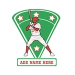 Personalized Red Baseball Player
