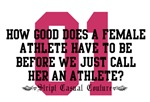 Female Athlete Quote T-Shirts and Gifts