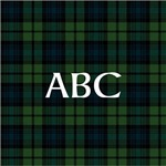 Black Watch Tartan Monogram