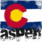Aspen Grunge Flag