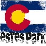 Estes Park Grunge Flag