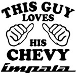 This guy loves his chevy Impala