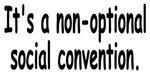 Social Convention 1