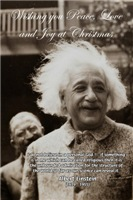 Albert Einstein Christmas Gifts: Peace Love Joy