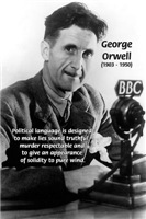 Novelist George Orwell: Politics / Language