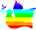 Rainbow Peace Dove