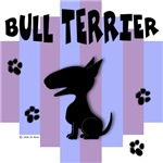 Bull Terrier Blue/Purple Stripe