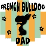 French Bulldog Dad - Green/Orange Stripe