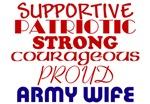 Army Wife Description Items