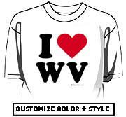 I Love West Virginia (WV)