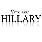 Voto para Hillary Clinton
