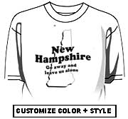 New Hampshire - Get away and leave us alone