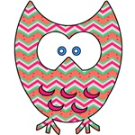Cute Owl with Zig Zag Pattern