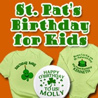 St Patricks Birthday for Kids (We Customize!)
