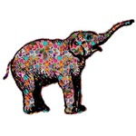 Roaring Elephant in Polka Dots