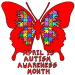 April is Autism Awareness Month with Butterfly