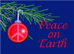 Peace with Christmas Balls and Pine Bough