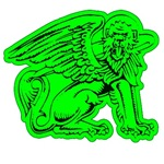 Legendary Griffin in Irish Green