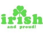 Irish and Proud with Shamrock