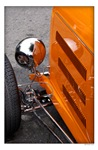 Artistic Orange Hot Rod Detail