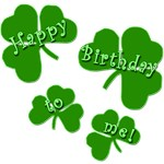 SHAMROCK BIRTHDAY on t-shirts and Gifts