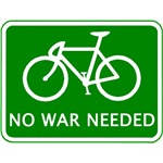 Bicycling Is Green. No War Needed.