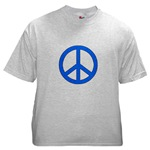 Blue Peace Symbol