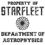 Property of Starfleet  Dept of Astrophysics