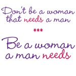 Don't be a woman...