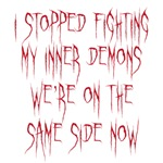 stopped fighting my inner demons