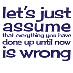 let's just assume