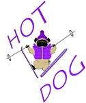 Skiing Pug   Hotdog
