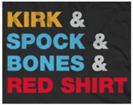 Kirk & Spock & Bones & Red Shirt