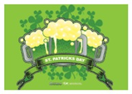 St Patrick's Day Tripple Beer Banner