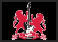 Rock Lion Guitar Crest