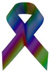 Rainbow Awareness Ribbon A