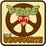 PEACE LOVE AND CHOCOLATE