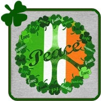 Irish Peace Love and Shamrocks
