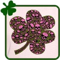 Irish Gothic Skulls Shamrock
