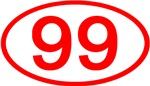 Number Ovals - 50 to 99 (Red)
