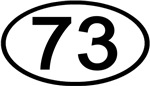 Number 73 Oval (Black)